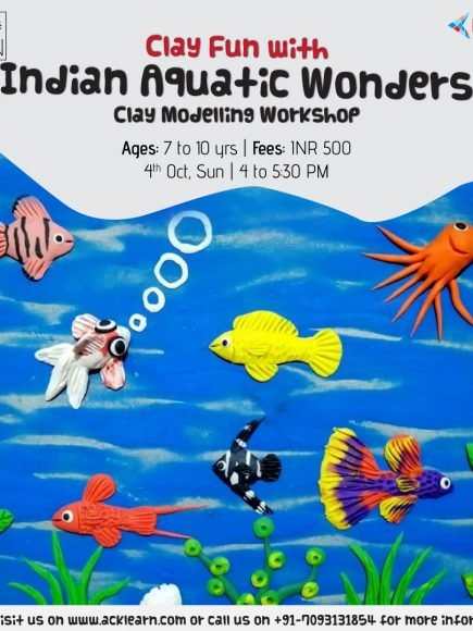 Clay Modelling Fun Seniors with Kores – Indian Aquatic Wonders – 4th October