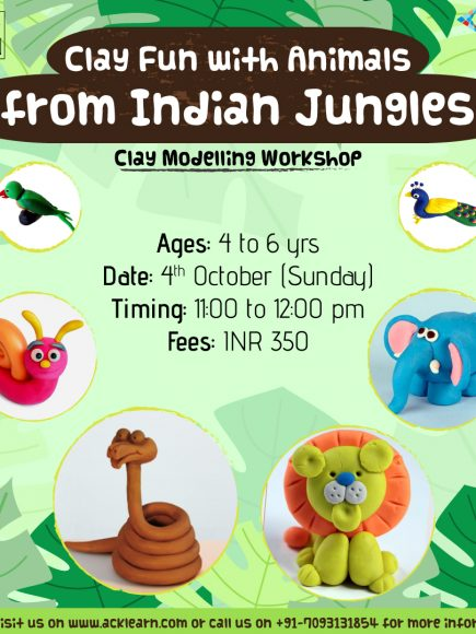 Clay Modelling Fun Junior with Kores – Indian Jungle Animals – 4th October
